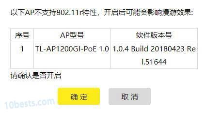 TL-AP1200GI-PoE面板ap不支持802.11r