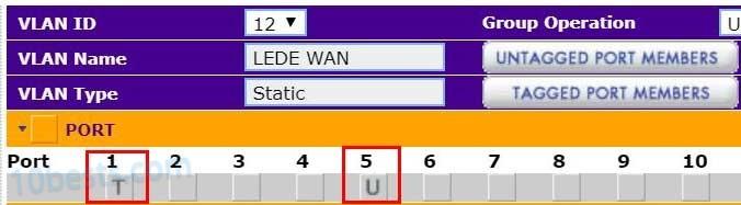 网件交换机添加VLAN标记