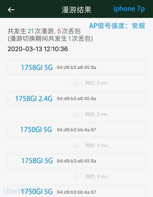 TL-470GP-AC-AP强度常规-iphone7p-漫游效果
