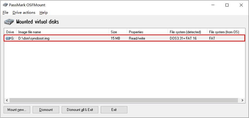 修改黑群晖引导镜像的SN和MAC