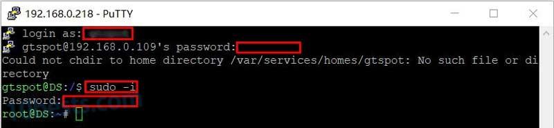 群晖管理账户SSH登录并提权获得root权限